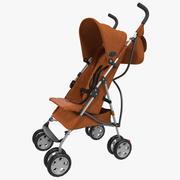 Baby Stroller Orange Modèle 3D 3d model