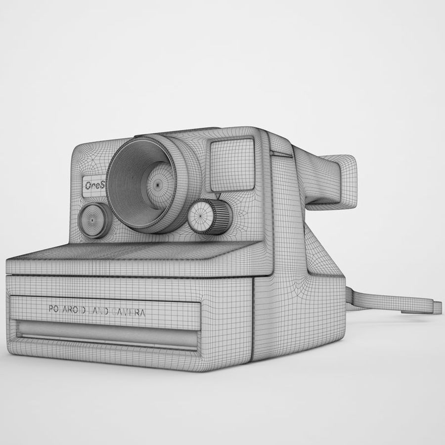 Polaroid Camera 01 royalty-free 3d model - Preview no. 3