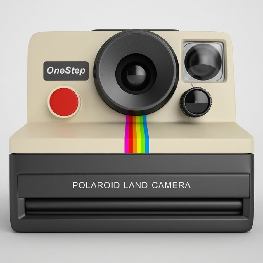 Polaroid Camera 01 royalty-free 3d model - Preview no. 5