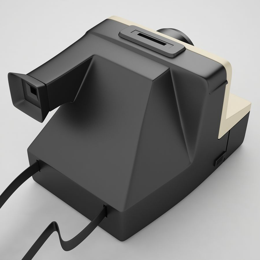 Polaroid Camera 01 royalty-free 3d model - Preview no. 9