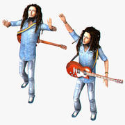 Bob Marley Rigged 3d model