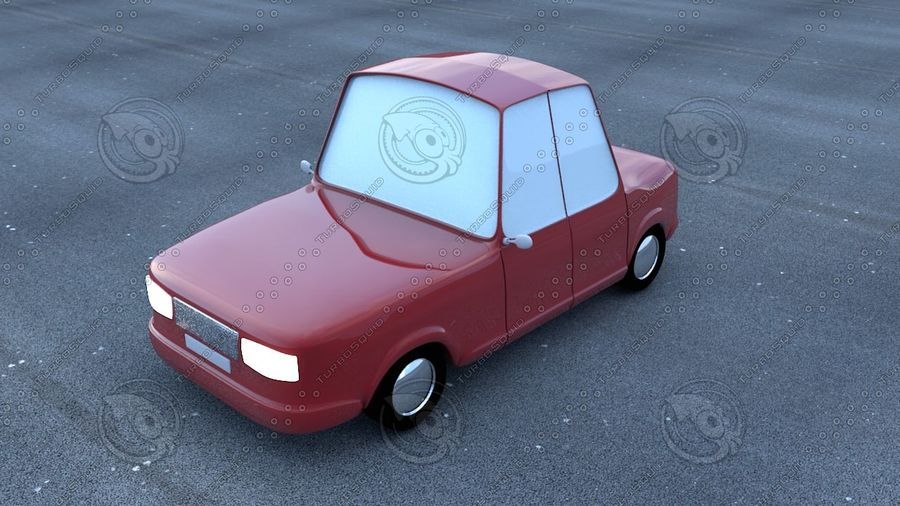 Cartoon car(1) royalty-free 3d model - Preview no. 1