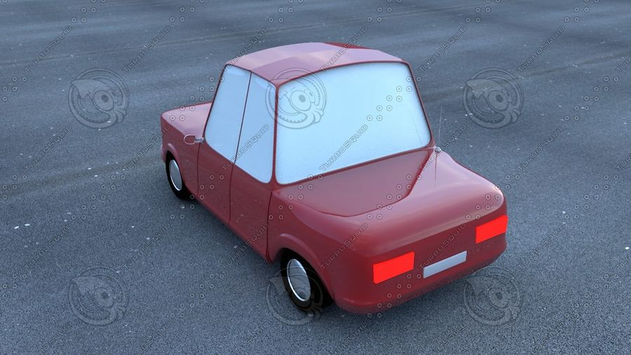 Cartoon car(1) royalty-free 3d model - Preview no. 2