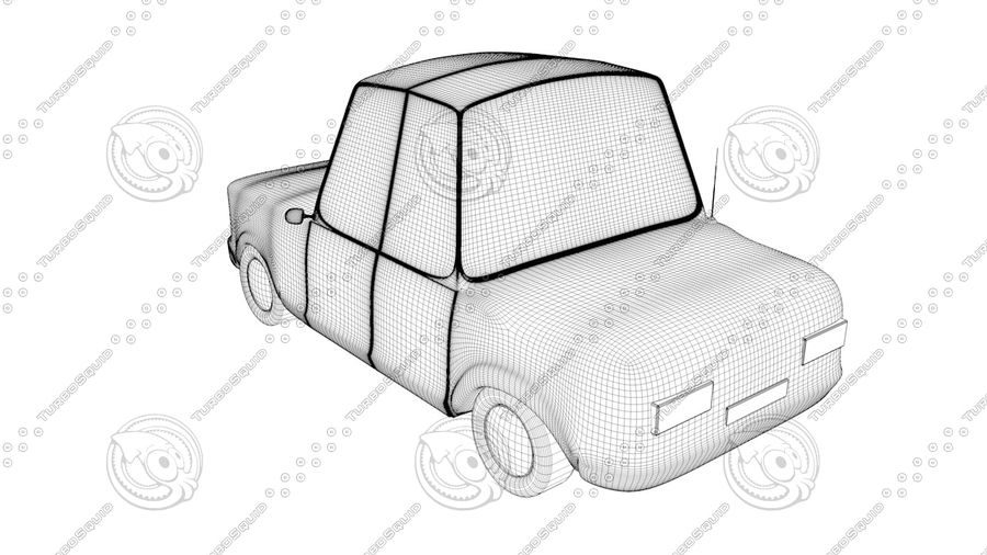 Cartoon car(1) royalty-free 3d model - Preview no. 5