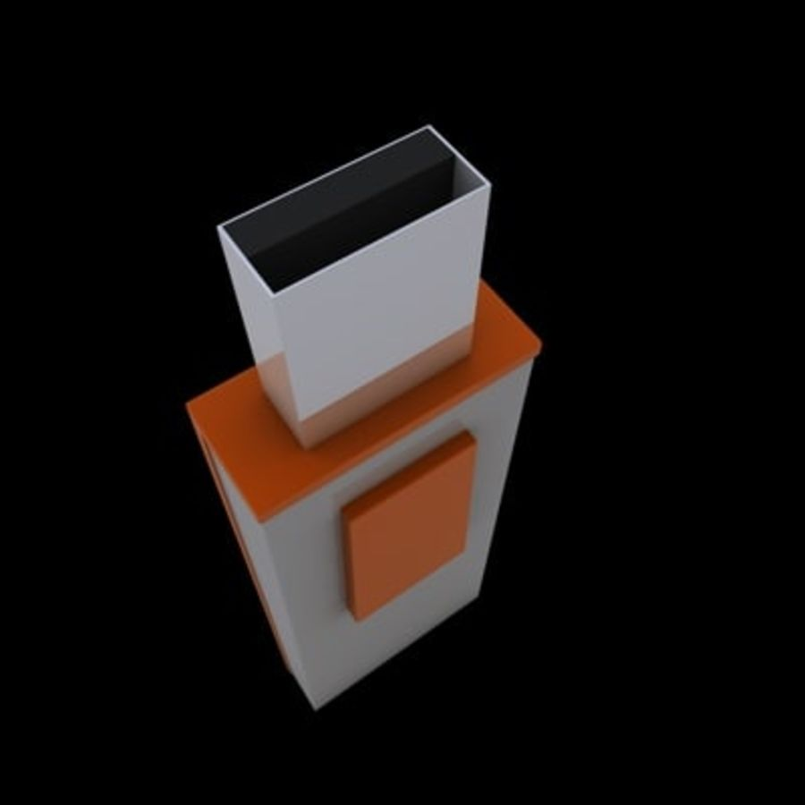 USB-FLASH royalty-free 3d model - Preview no. 4