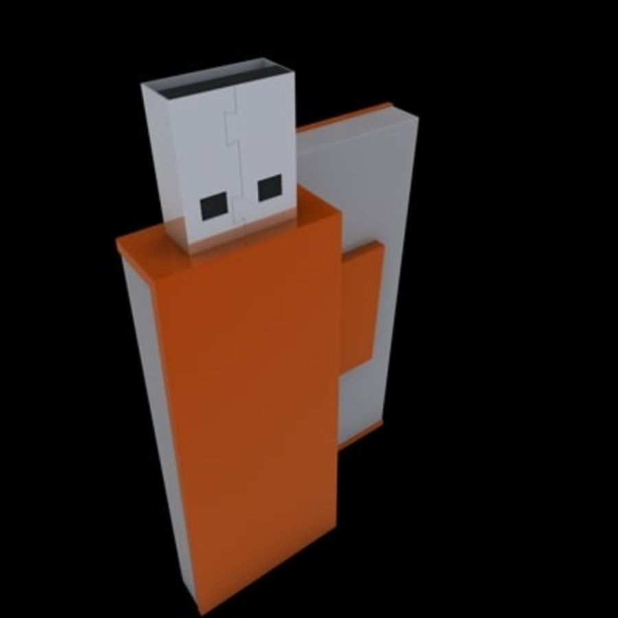 USB-FLASH royalty-free 3d model - Preview no. 2