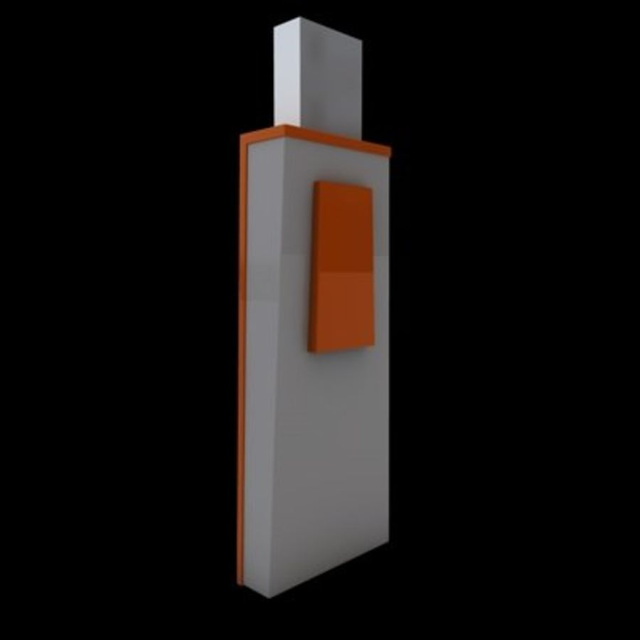 USB-FLASH royalty-free 3d model - Preview no. 5