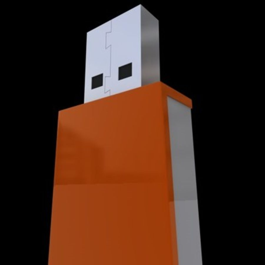 USB-FLASH royalty-free 3d model - Preview no. 3