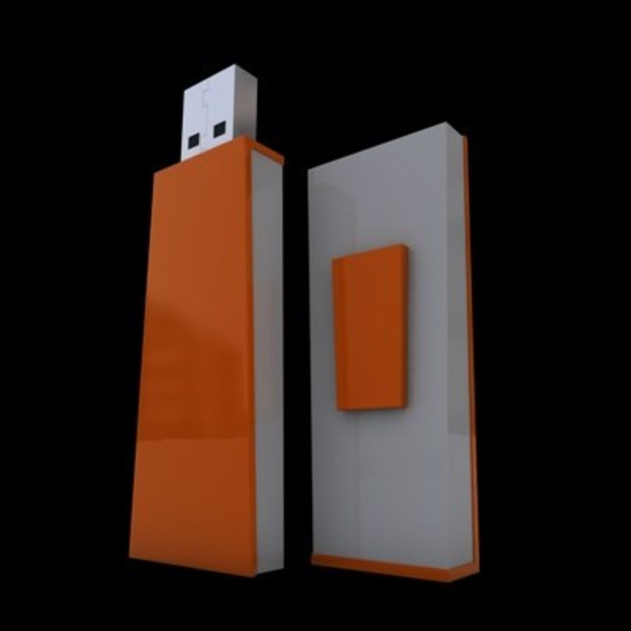 USB-FLASH royalty-free 3d model - Preview no. 1