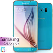 Samsung Galaxy S6 Blue 3d model