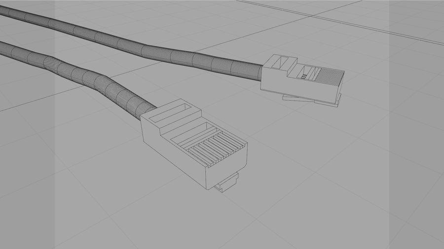 Cable Ethernet / LAN con spline dinámico royalty-free modelo 3d - Preview no. 14