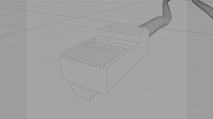 Cable Ethernet / LAN con spline dinámico royalty-free modelo 3d - Preview no. 17