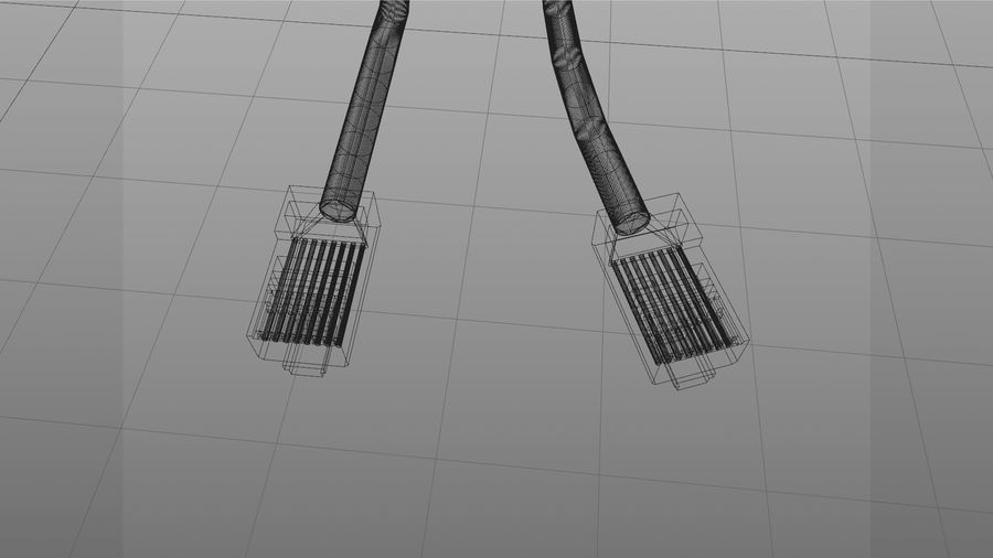 Cable Ethernet / LAN con spline dinámico royalty-free modelo 3d - Preview no. 8