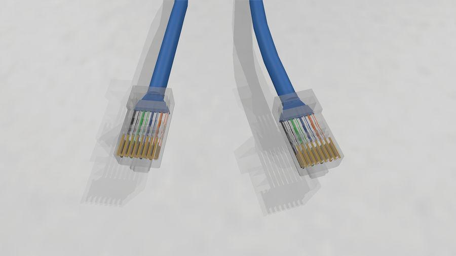 Cable Ethernet / LAN con spline dinámico royalty-free modelo 3d - Preview no. 6