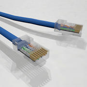 Ethernet / LAN-kabel med dynamisk spline 3d model