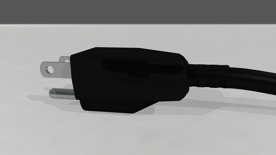 Power Cable With Dynamic Spline royalty-free 3d model - Preview no. 16