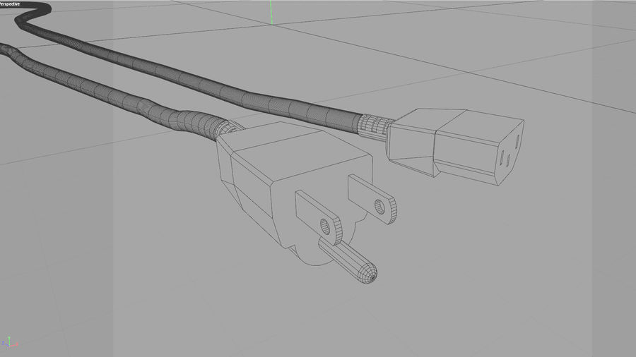 Power Cable With Dynamic Spline royalty-free 3d model - Preview no. 13