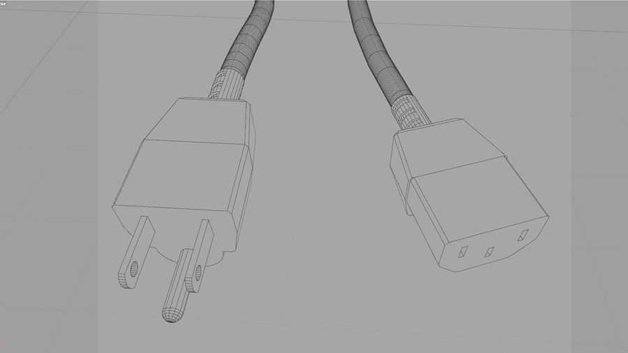 Power Cable With Dynamic Spline royalty-free 3d model - Preview no. 7