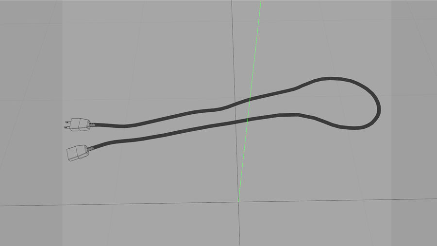 Power Cable With Dynamic Spline royalty-free 3d model - Preview no. 9