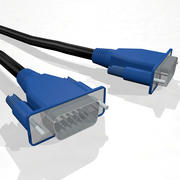 VGA Monitor Cable With Dynamic Spline 3d model