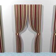 Ensemble de rideaux: différents styles 3d model
