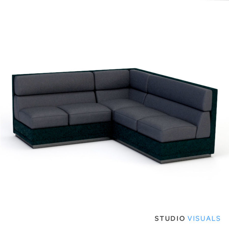 Couch 02 royalty-free 3d model - Preview no. 1