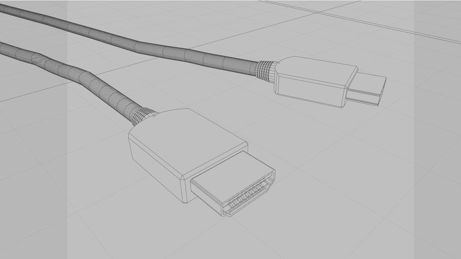 HDMI Cable With Dynamic Spline royalty-free 3d model - Preview no. 13
