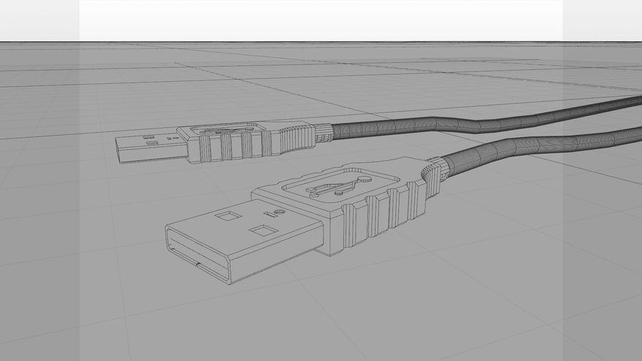 带动态花键的USB电缆 royalty-free 3d model - Preview no. 5