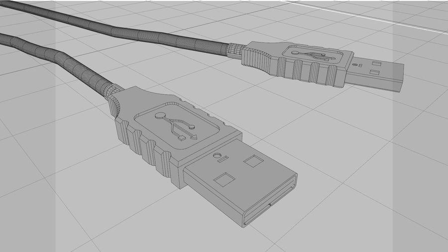 带动态花键的USB电缆 royalty-free 3d model - Preview no. 13