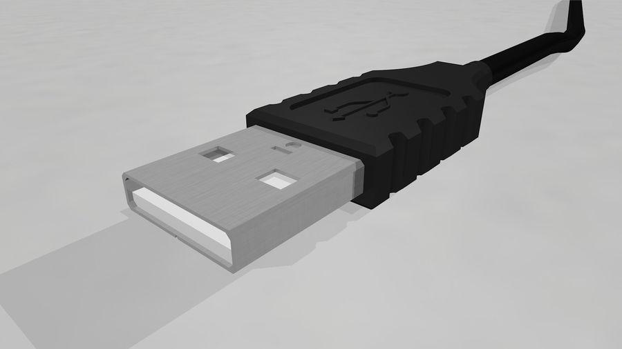 带动态花键的USB电缆 royalty-free 3d model - Preview no. 14