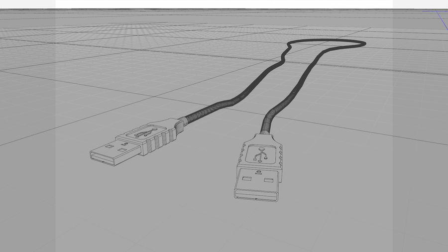 带动态花键的USB电缆 royalty-free 3d model - Preview no. 3