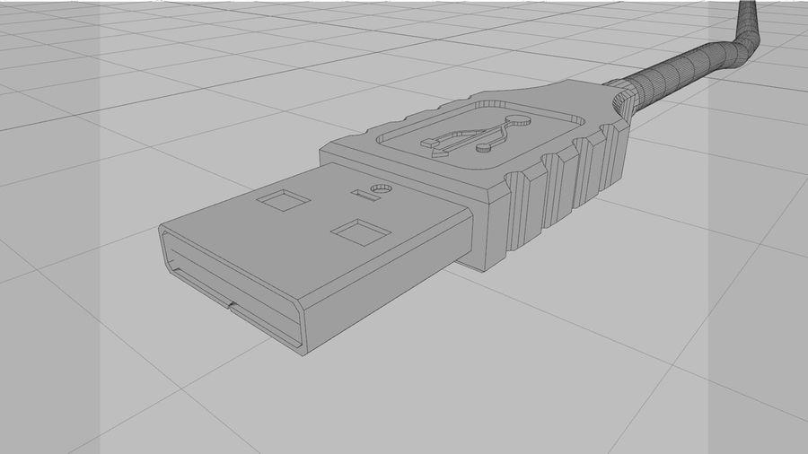 带动态花键的USB电缆 royalty-free 3d model - Preview no. 15