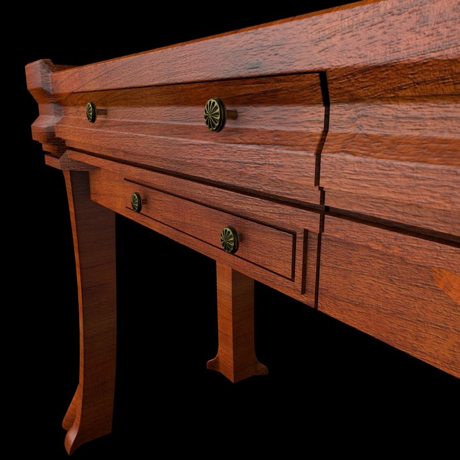 Desk Drawer royalty-free 3d model - Preview no. 3