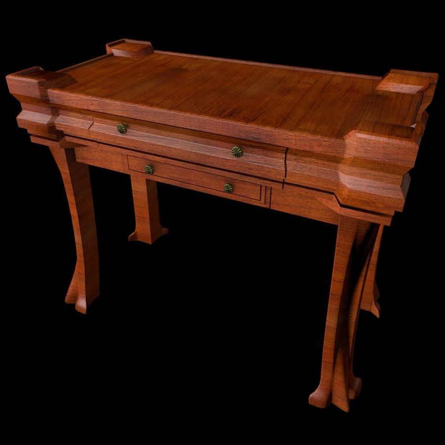 Desk Drawer royalty-free 3d model - Preview no. 2