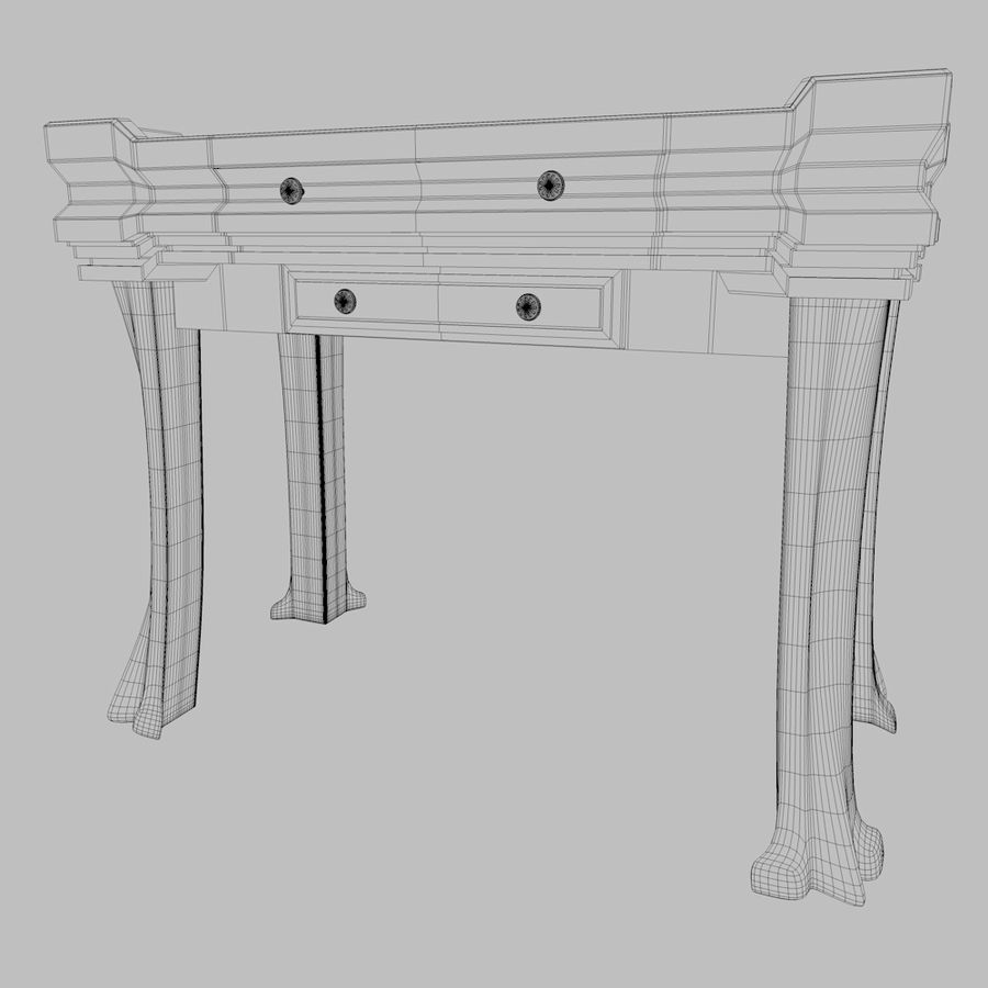 Desk Drawer royalty-free 3d model - Preview no. 6