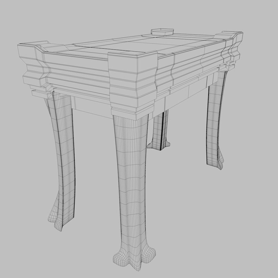 Desk Drawer royalty-free 3d model - Preview no. 9