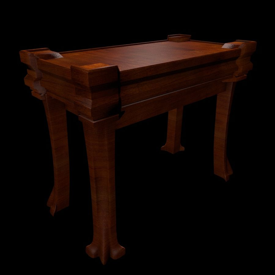 Desk Drawer royalty-free 3d model - Preview no. 4