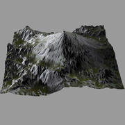 Terrain Heightmap HillMount 3d model