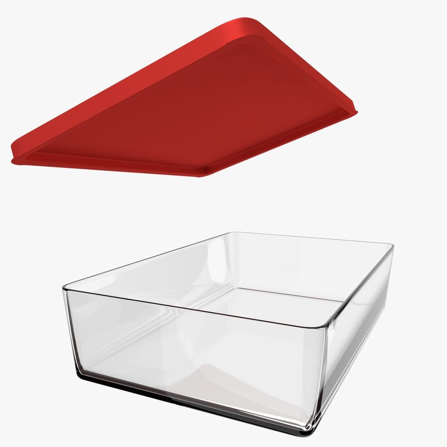 Glass Food Container royalty-free 3d model - Preview no. 7