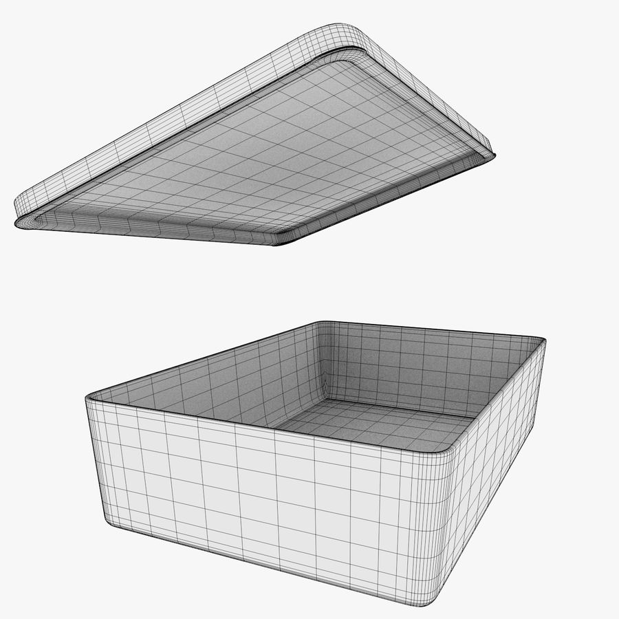 Glass Food Container royalty-free 3d model - Preview no. 8