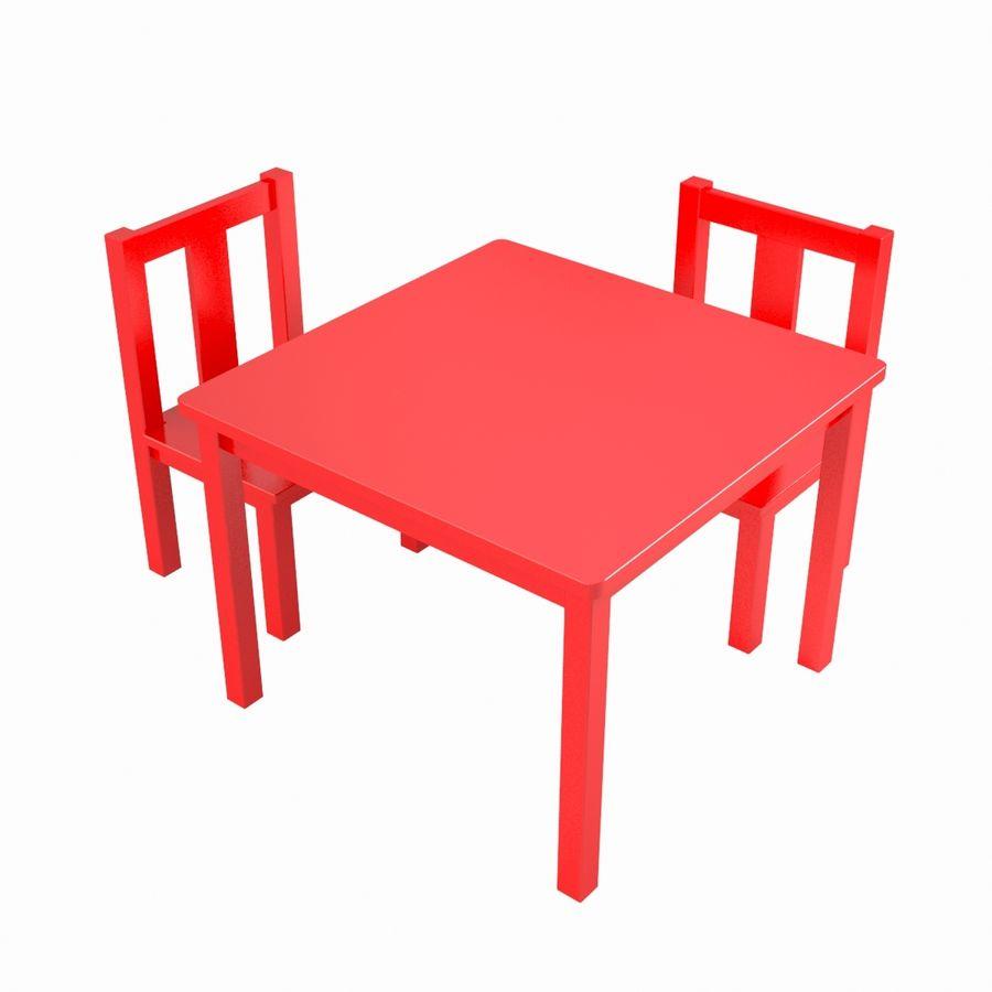 リアルな子供用テーブル royalty-free 3d model - Preview no. 1