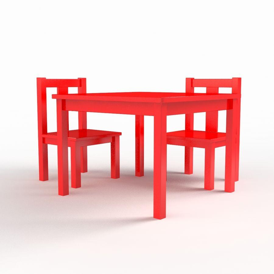 リアルな子供用テーブル royalty-free 3d model - Preview no. 3