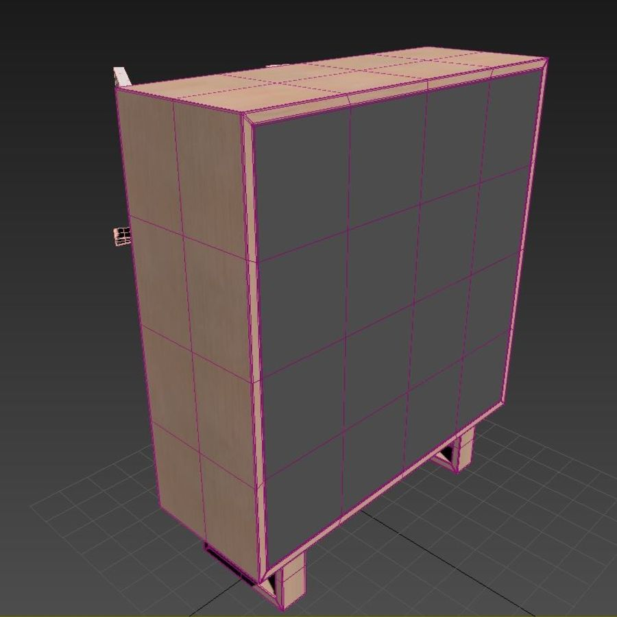 Schrank royalty-free 3d model - Preview no. 9