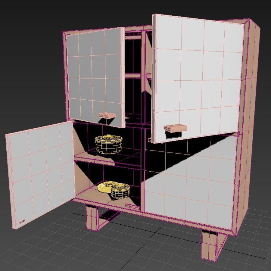 Schrank royalty-free 3d model - Preview no. 8