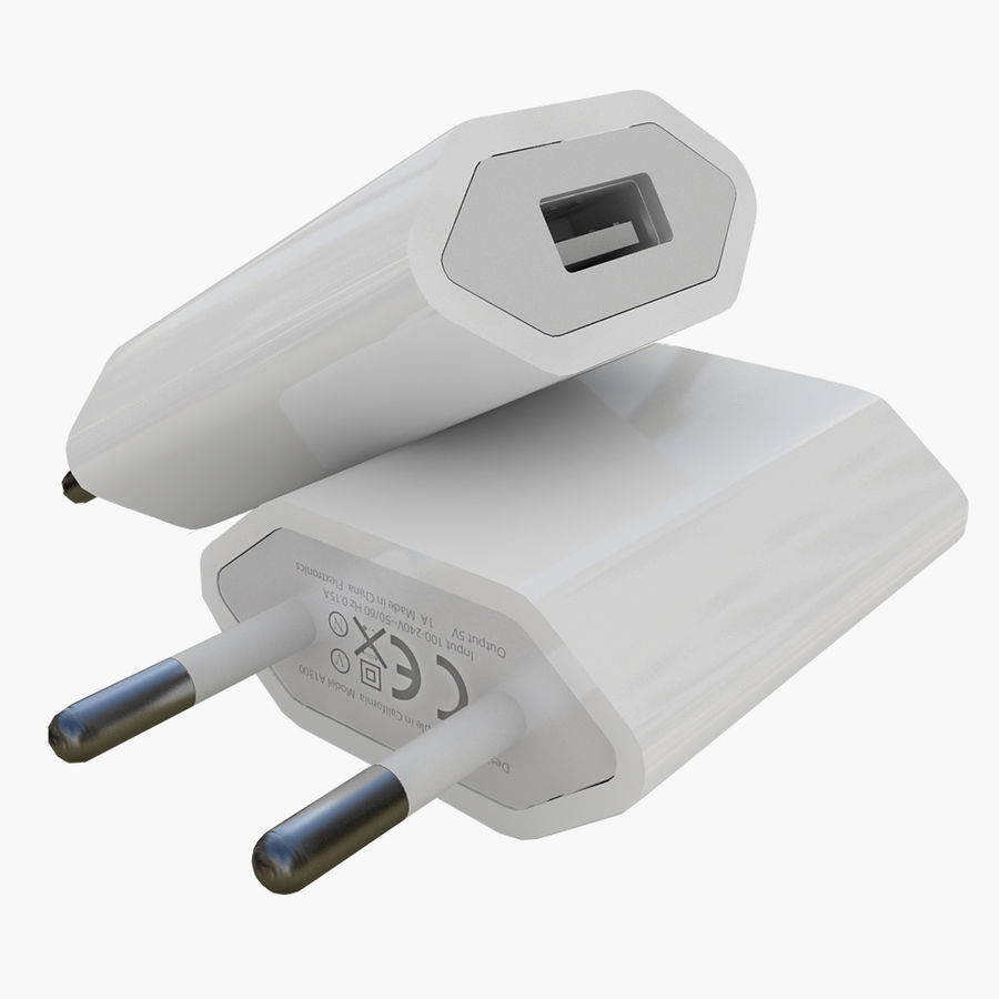 Apple 5W USB Power Adapter royalty-free 3d model - Preview no. 1
