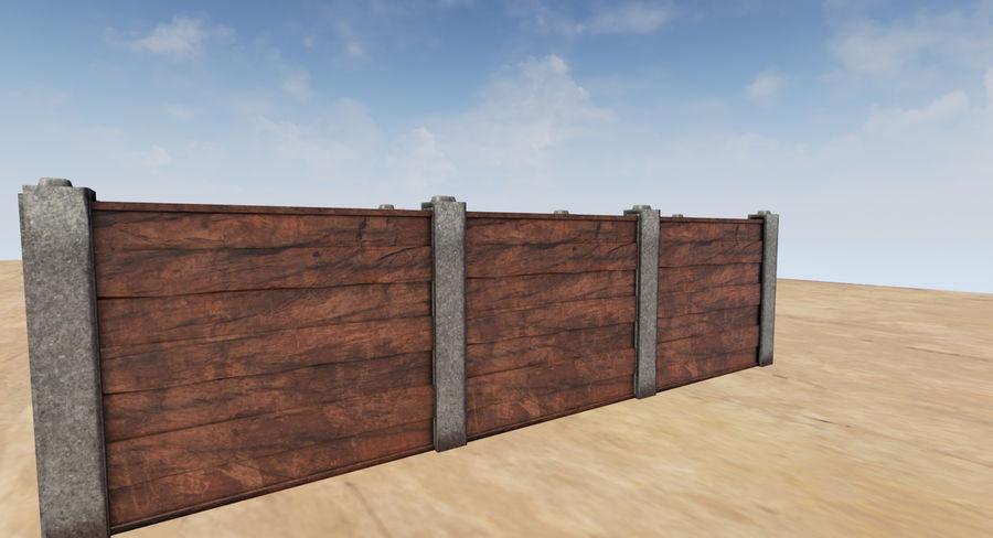 Portão e cerca de madeira royalty-free 3d model - Preview no. 3
