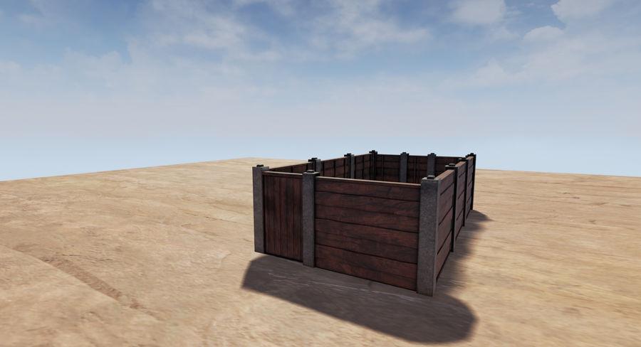 Portão e cerca de madeira royalty-free 3d model - Preview no. 5