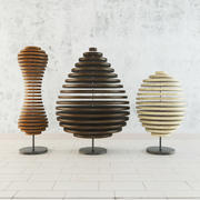 Décorations en bois 3d model