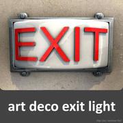 luz de saída art deco 3d model