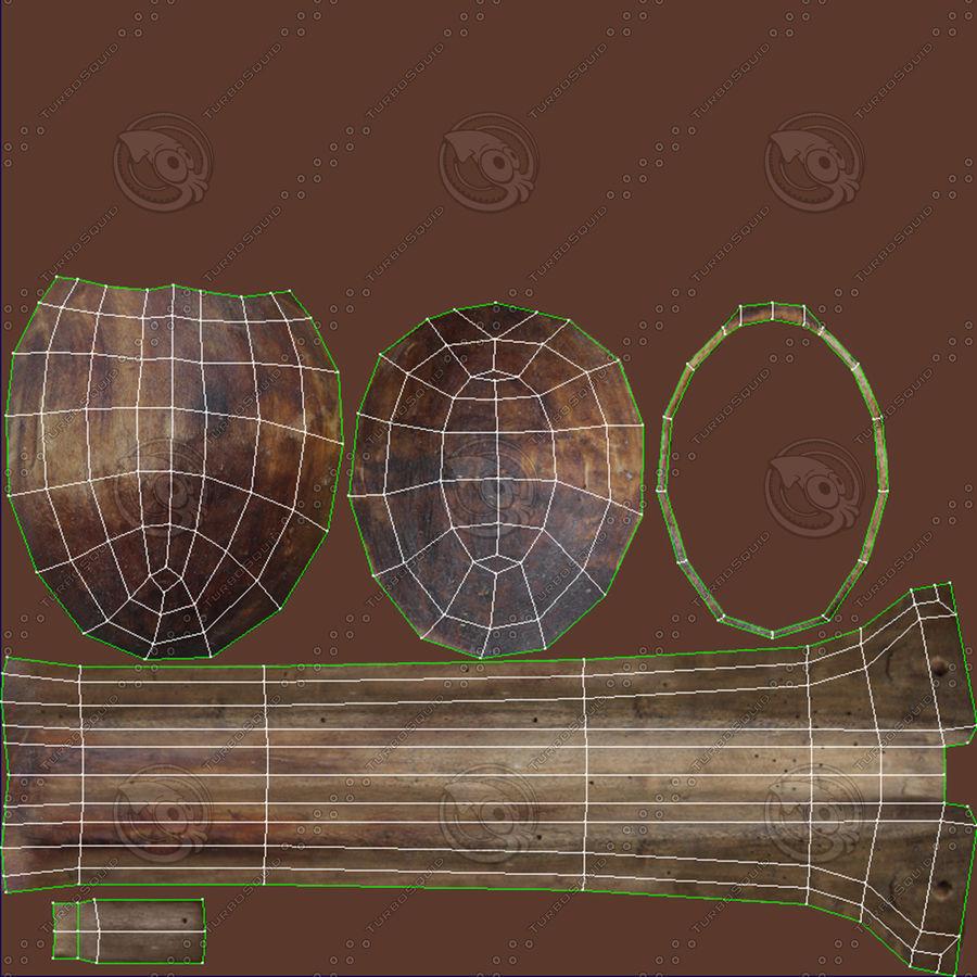 Cuchara de madera royalty-free modelo 3d - Preview no. 24